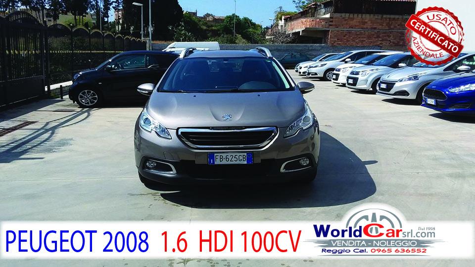 PEUGEOT 2008 1.6 HDI 100 CV